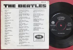 BEATLES - Dizzy miss Lizzy + 3 Danish EP 1965