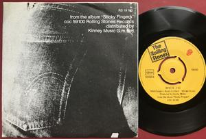 "ROLLING STONES - Brown sugar 7"" LITEN mitt center Ger PS  1971"
