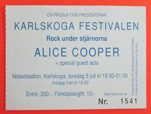 ALICE COOPER - Karlskoga 1990