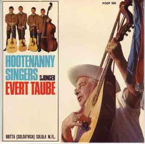 HOOTENANNY SINGERS EP Sjunger Evert Taube 1965