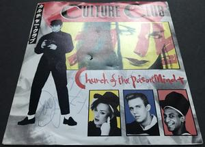 """CULTURE CLUB - Church of the poison mind SIGNED Swe-orig 7"""" 1983"""