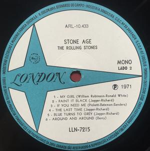 ROLLING STONES - Stone age Brazil-orig MONO LP 197