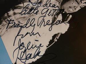 JOSEPHINE BAKER - Autograf på STORT FOTO 1960-tal