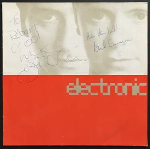 "ELECTRONIC - ""same"" 1991 SIGNERAD LP"