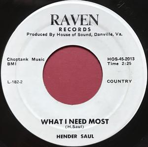HENDER SAUL - You really put a hurtin´ US-orig 45 1950´s Private Rockabilly