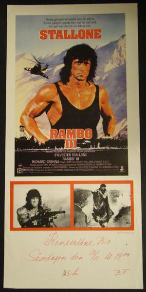 RAMBO III (SYLVESTER STALLONE )