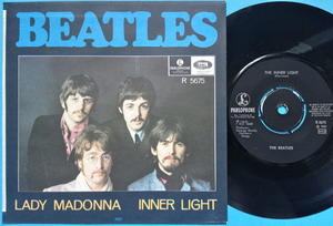 "BEATLES - Lady Madonna 7"" Swe PS 1968"