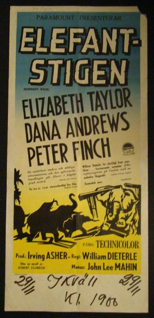 ELEFANTSTIGEN  (ELISABETH TAYLOR,DANA ANDREWS,PETER FINCH)