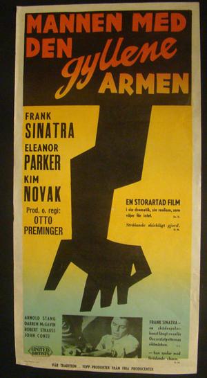 MANNEN MED DEN GYLLENE ARMEN (FRANK SINATRA, ELEANOR PARKER, KIM NOVAK)