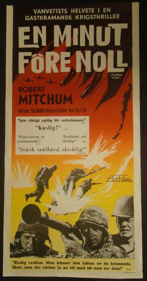 EN  MINUT FÖRE NOLL (ROBERT MITCHUM, WILLIAM TALMAN, ANN BLYTH)