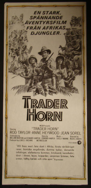 TRADER HORN (ROD TAYLOR, ANNE HEYWOOD, JEAN SOREL)
