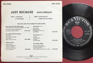 ELVIS PRESLEY - Just because +3 German EP 1959