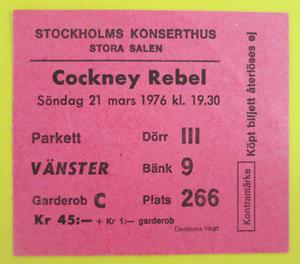 COCKNEY REBEL - Stockholm 1976