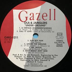 OLA & JANGLERS - Under-ground Swe-orig LP 1967