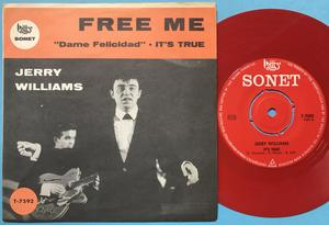 JERRY WILLIAMS - Free me Swe PS 1964