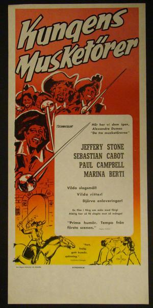 KING MUSKETEERS (JEFFERY STONE, SEBASTIAN CABOT, PAUL CAMPBELL, MARINA BERTI)