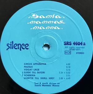 """SAMLA MAMMAS MANNA - """"same"""" Swe-orig LP 1971"""