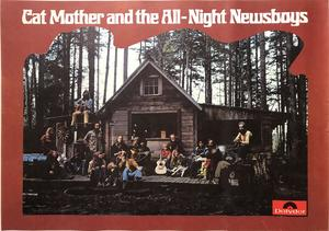 CAT MOTHER AND THE ALL NIGHT NEWS BOYS (1970) LP Promoaffisch