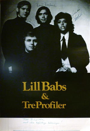 LILL-BABS & TRE PROFILER (1970´s) - Tour poster