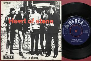 ROLLING STONES - Heart of stone UK-export/Dansk PS 1965