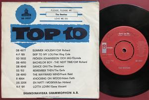BEATLES - Please, please me Rare RÖD etikett Swe PS 1963