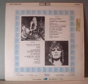 BRIGITTE BARDOT - Show - Fra 1960's RARE LP!