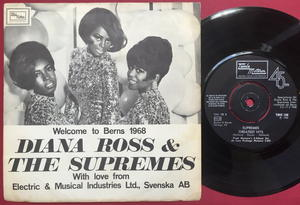 DIANA ROSS & SUPREMES - Welcome to Berns Swe PS 1968 SIGNERAD!