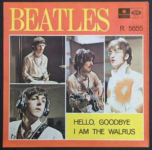 "BEATLES - Hello, goodbye 7"" Swe-67 PS ONLY - Archive copy / MINT-!"