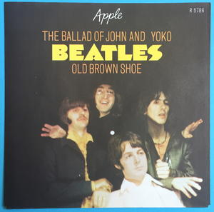 "BEATLES - Ballad of John & Yoko 7"" Swe-69 PS ONLY - Archive copy / MINT-!"