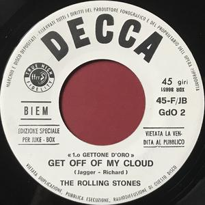 ROLLING STONES - Little red rooster / Get off of my cloud Italien Jukebox PROMO 45  1965