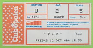 DIO - Göteborg 1984