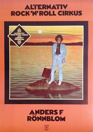 ANDERS F RÖNNBLOM - Alternativ Rock´n´roll cirkus (1974) LP Promoaffisch