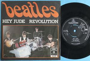 """BEATLES - Hey Jude UK 7"""" EXPORT DP 570 / Swe """"DN"""" PS 1968"""