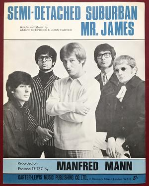 MANFRED MANN - Semi-detached suburban Mr. James Nothäfte 1966