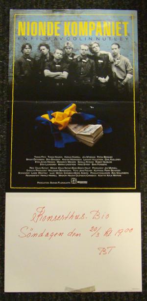 NIONDE KOMPANIET (TOMAS FRYK, HARALD HAMRELL)