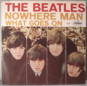"""BEATLES - What goes on 7"""" US 1965 PS"""