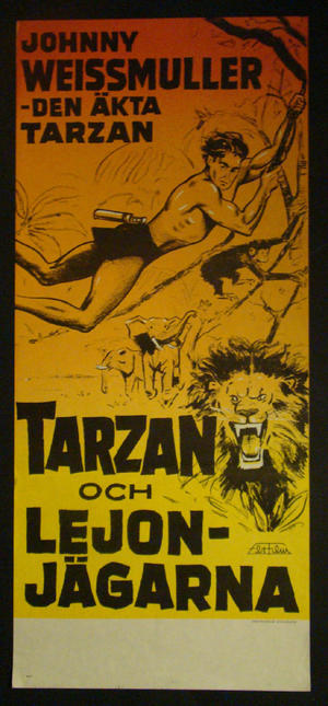 TARZAN AND THE HUNTRESS (JOHNNY WEISSMULLER)