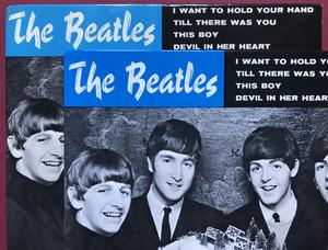 BEATLES - I want to hold your hand +3 RED label Swe EP 1963