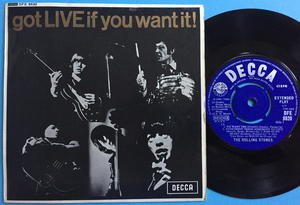 ROLLING STONES - Got LIVE if you want it! UK EP DFE 8620 1965