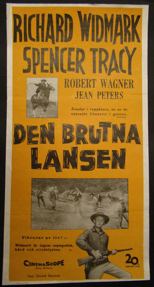 BROKEN LANCE (RICHARD WIDMARK, SPENCER TRACY, ROBERT WAGNER, JEAN PETERS)