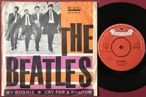 "BEATLES -  My Bonnie 7"" Orange/rosa Swe PS 1964"