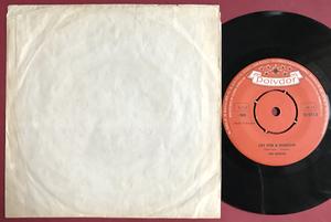"BEATLES -  My Bonnie 7"" Orange/brun Swe PS 1964"