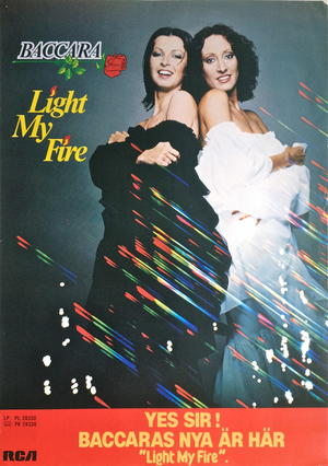 BACCARA - Light my fire (1978) LP Promoaffisch