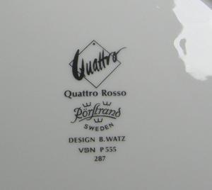 Kahvikupit ja alusvadit, 2 kpl, Quattro Rosso, BW