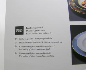 Assietter, 5 st,  Quattro Rosso, BW(SÅLD)