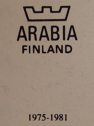 Väggfat, Finnar betraktande valar, nr 8, A Alariesto