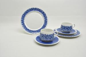 Kahvikupit, alusvadit ja asetit 2 kpl, Doria, RU