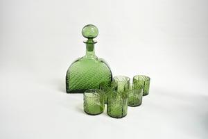 Karaff+ glas 6 st, Flindari, grön, NS