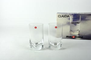 Lasit 2 kpl, Claudia, JV
