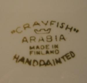 Tallrik, Crayfish, Handmålad